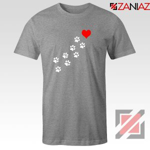 Paws Dogs Heart Sport Grey Tshirt