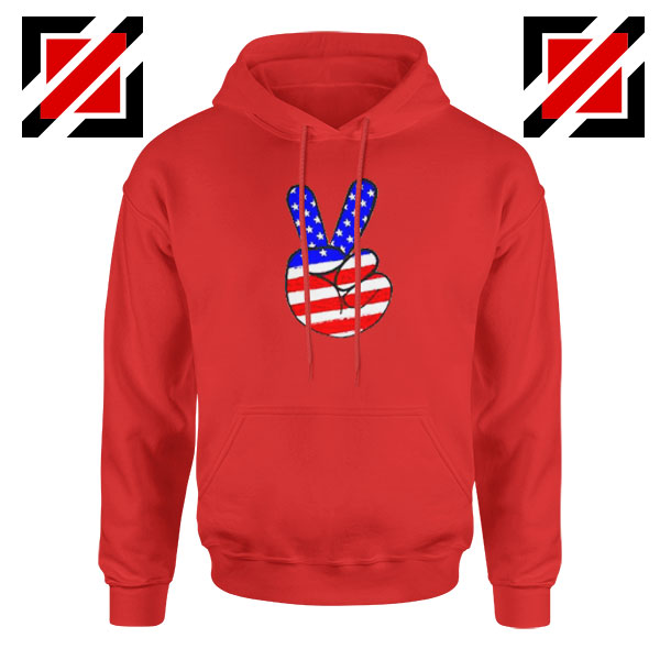Peace Sign Red Hoodie