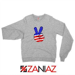 Peace Sign Sport Grey Sweatshirt