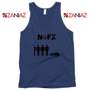 Punk Nofx Band Navy Blue Tank Top