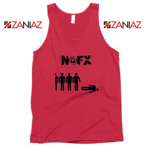 Punk Nofx Band Red Tank Top