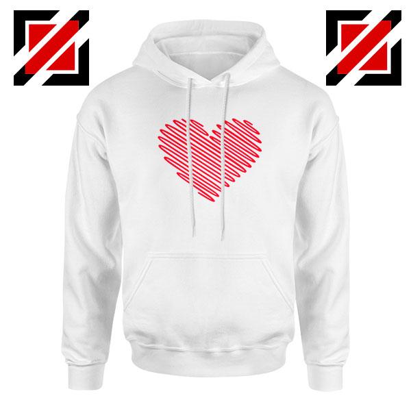 Red Heart Diagonal Hoodie