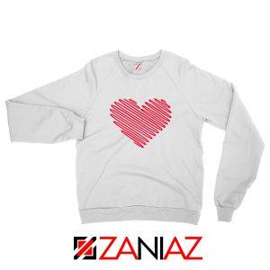 Red Heart Diagonal Sweatshirt