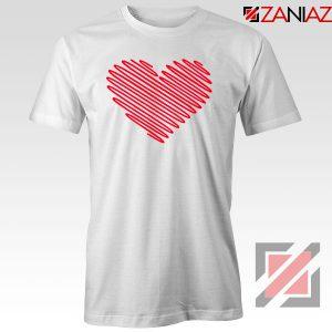 Red Heart Diagonal Tshirt