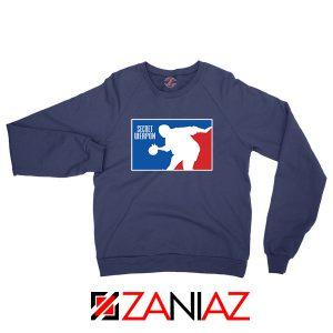 Secret Weapon Stanley Hudson Navy Blue Sweatshirt