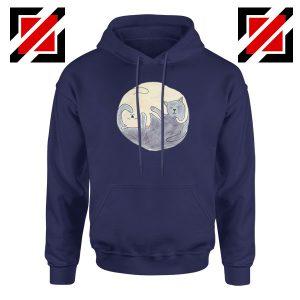 Sleeping Cats Navy Blue Hoodie