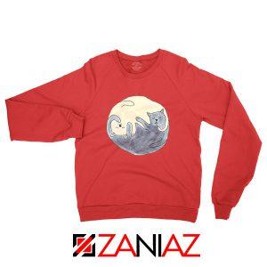 Sleeping Cats Red Sweatshirt