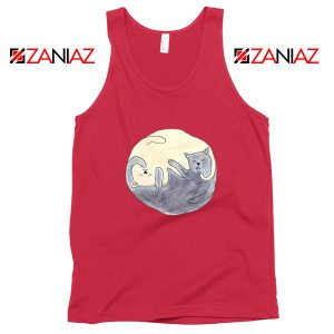 Sleeping Cats Red Tank Top