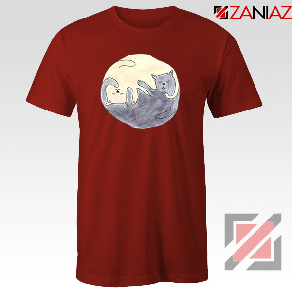 Sleeping Cats Red Tshirt