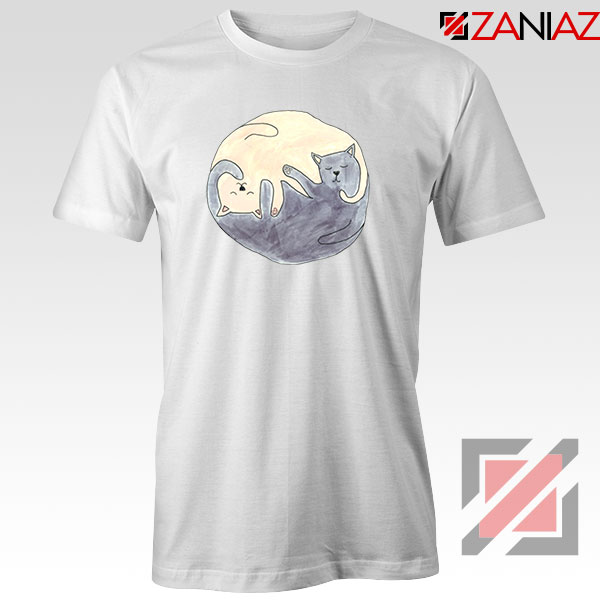 Sleeping Cats White Tshirt