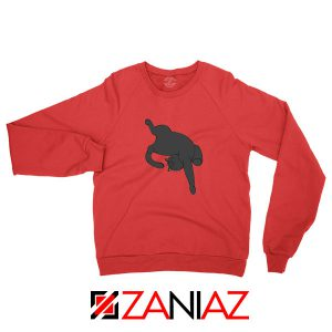 Sleeping Kitten Red Sweatshirt