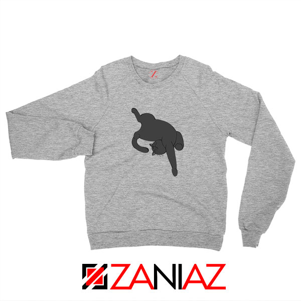Sleeping Kitten Sport Grey Sweatshirt