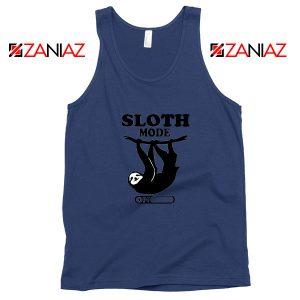 Sloth Mode Navy Blue Tank Top
