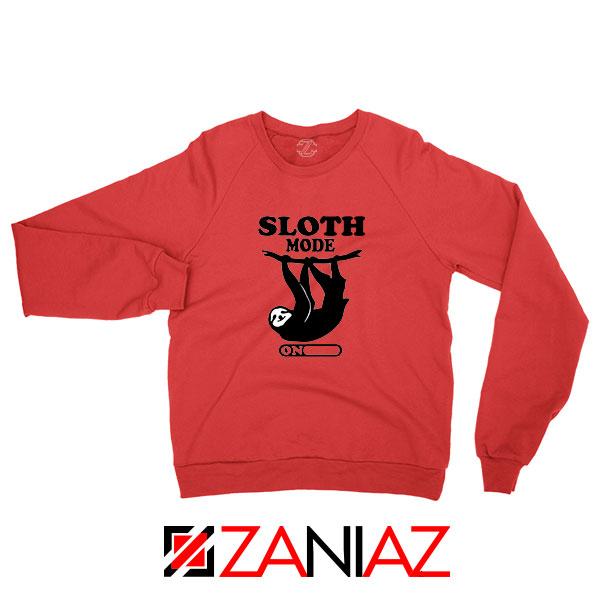 Sloth Mode Red Sweatshirt