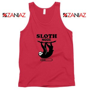 Sloth Mode Red Tank Top