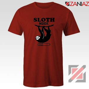 Sloth Mode Red Tshirt
