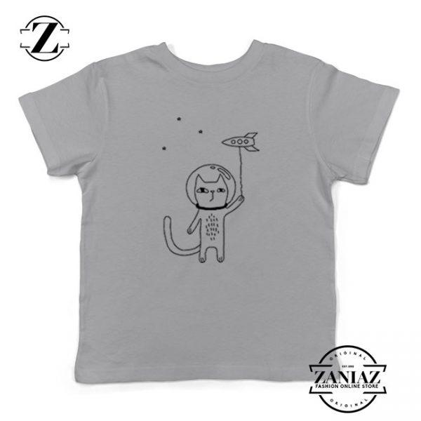 Space Cat Kids Grey Tshirt