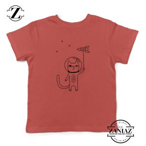 Space Cat Kids Red Tshirt