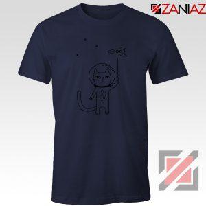 Space Cat Navy Blue Tshirt