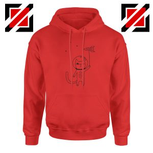 Space Cat Red Hoodie