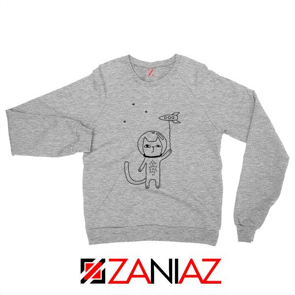Space Cat Sport Grey Sweatshirt