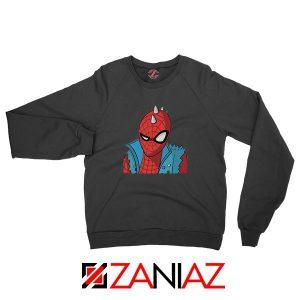 Spider Punk Black Sweatshirt
