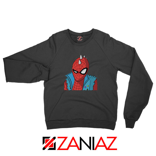 Spider Punk Black Sweatshirt