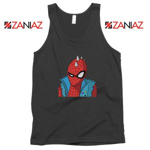 Spider Punk Black Tank Top