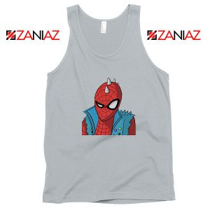 Spider Punk Sport Grey Tank Top