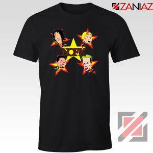 Star Four Singers Black Tshirt