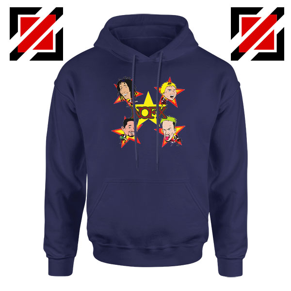 Star Four Singers Navy Blue Hoodie