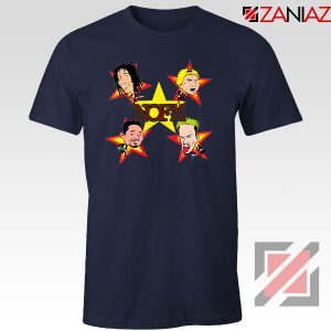 Star Four Singers Navy Blue Tshirt