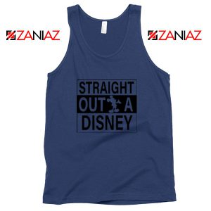 Straight Outta Disney Navy Blue Tank Top