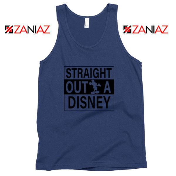 Straight Outta Disney Navy Blue Tank Top