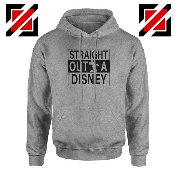 Straight Outta Disney Sport Grey Hoodie