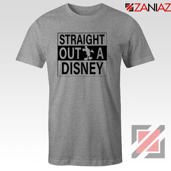 Straight Outta Disney Sport Grey Tshirt