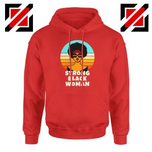 Strong Black Woman Red Hoodie
