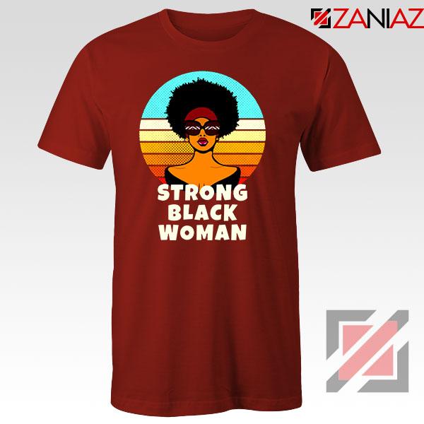 Strong Black Woman Red Tshirt