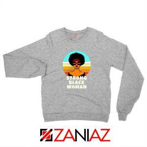 Strong Black Woman Sport Grey Sweatshirt