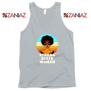 Strong Black Woman Sport Grey Tank Top