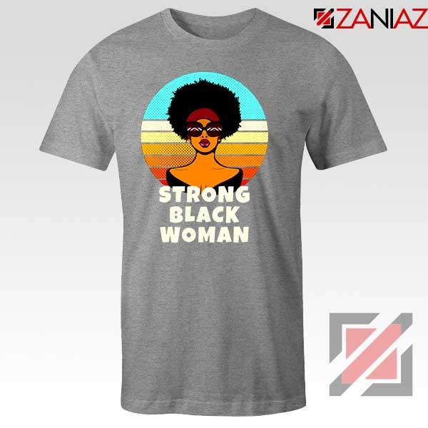 Strong Black Woman Sport Grey Tshirt