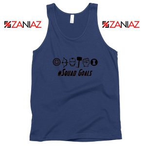 Superheros Squad Goals Navy Blue Tank Top