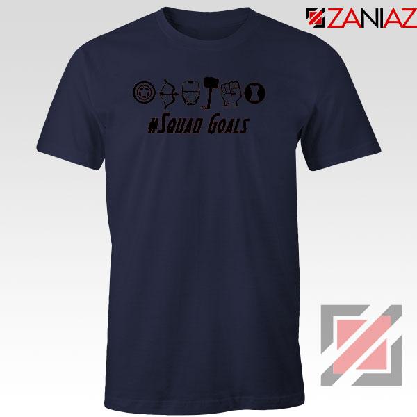 Superheros Squad Goals Navy Blue Tshirt