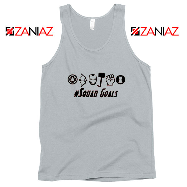 Superheros Squad Goals Sport Grey Tank Top