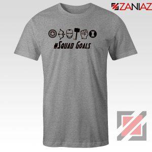 Superheros Squad Goals Sport Grey Tshirt