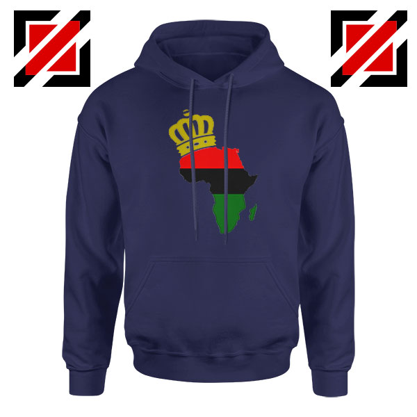 The African Flag Continent Navy Blue Hoodie
