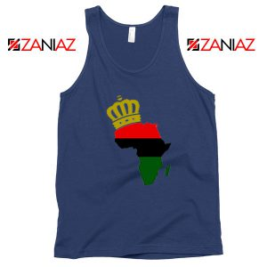 The African Flag Continent Navy Blue Tank Top