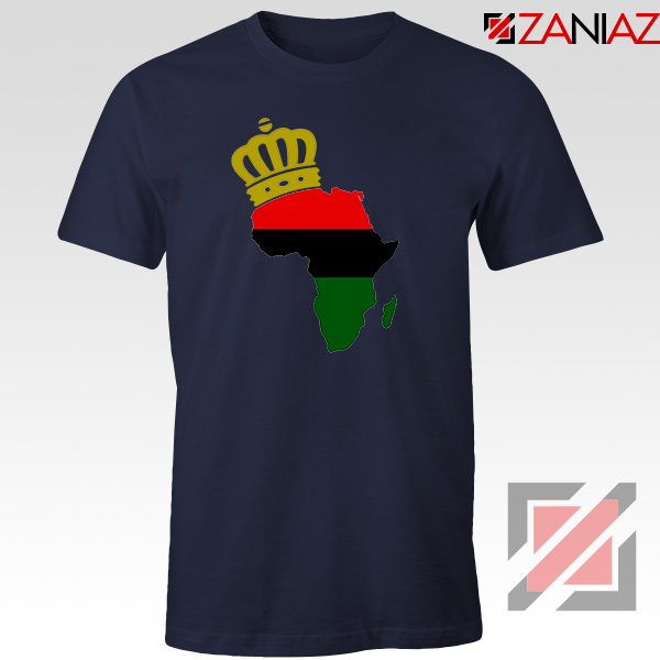 The African Flag Continent Navy Blue Tshirt