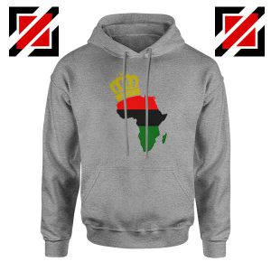The African Flag Continent Sport Grey Hoodie