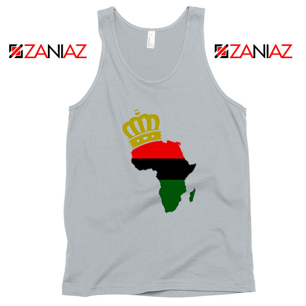 The African Flag Continent Sport Grey Tank Top